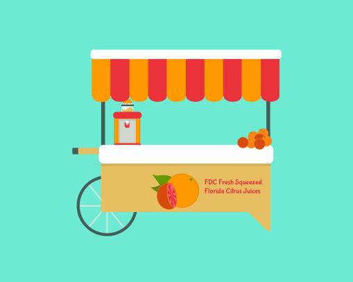 FDC Juice Cart OrangeGrapefruit etc